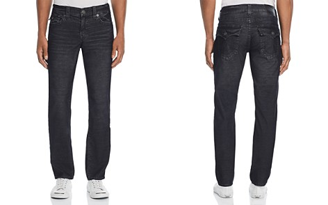 True Religion Geno Straight Slim Corduroy Pants in Black - Bloomingdale's_2