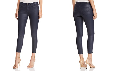 AG Coated Ankle Legging Jeans in Vintage Leatherette Navy - Bloomingdale's_2