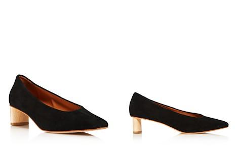 LoQ Women's Frida Almond Toe Suede Mid-Heel Pumps - Bloomingdale's_2