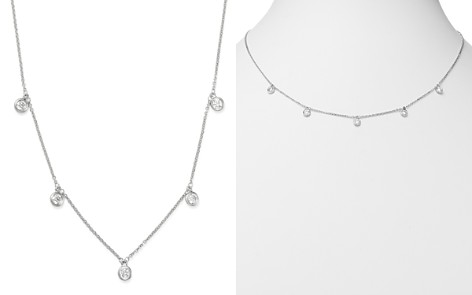 Bloomingdale's Diamond Bezel Set Station Necklace in 14K White Gold, 0.50 ct. t.w. - 100% Exclusive_2