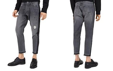 The Kooples Short Drop Slim Fit Jeans in Black - Bloomingdale's_2