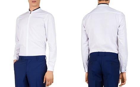 The Kooples Geo-Spring Lambskin-Collar Slim Fit Sport Shirt - Bloomingdale's_2