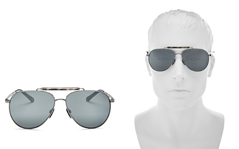Burberry Men's Mirrored Brow Bar Aviator Sunglasses, 59mm - Bloomingdale's_2