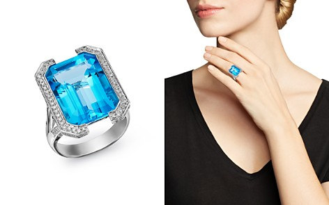 Bloomingdale's Swiss Blue Topaz & Diamond Statement Ring in 18K White Gold - 100% Exclusive_2