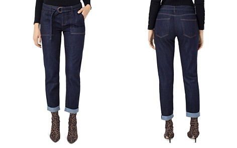 Liverpool Belted Boyfriend Jeans in Indigo Rinse - Bloomingdale's_2