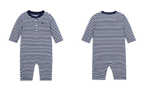 Ralph Lauren Boys' Striped Henley Coverall - Baby - Bloomingdale's_2