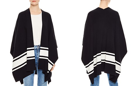 Sandro Flore Striped Poncho-Style Cardigan - Bloomingdale's_2