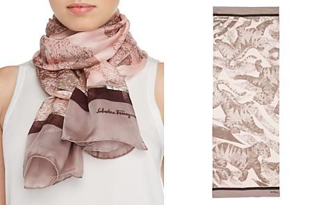 Salvatore Ferragamo Future Tiger Print Silk Scarf - Bloomingdale's_2