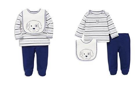 Little Me Boys' Puppy Pals Tee, Footie Pants & Bib Set - Baby - Bloomingdale's_2