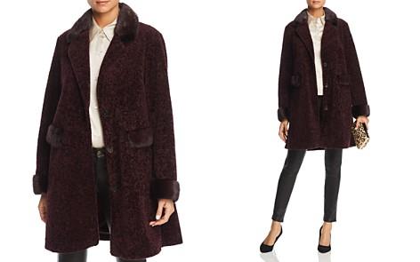 Maximilian Furs Lamb Fur Coat with Mink Fur Trim - 100% Exclusive - Bloomingdale's_2