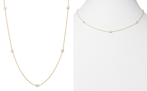 Diamond Station Necklace in 14K Yellow Gold, .50 ct. t.w. - Bloomingdale's_2