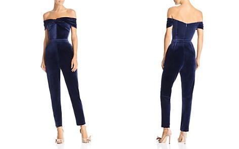 Adelyn Rae Off-the-Shoulder Velour Jumpsuit - Bloomingdale's_2