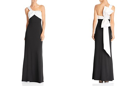 Adrianna Papell One-Shoulder Color-Block Gown - Bloomingdale's_2