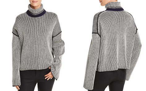 Theory Oversize Striped Cashmere Sweater - Bloomingdale's_2