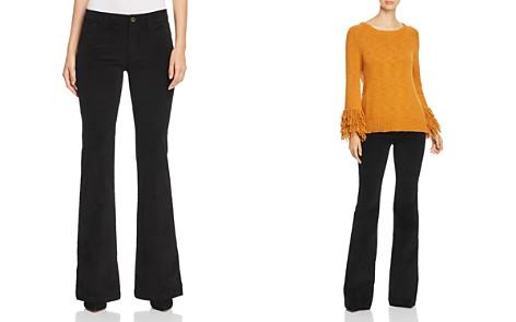 MICHAEL Michael Kors Selma Corduroy Flare Jeans in Black - 100% Exclusive - Bloomingdale's_2