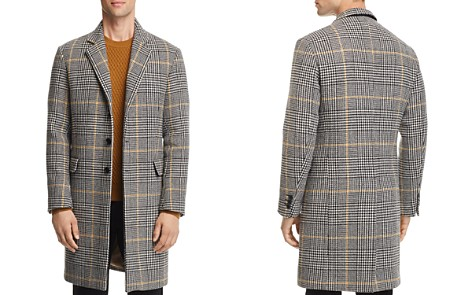 SANDRO Houndstooth-Plaid Overcoat - 100% Exclusive - Bloomingdale's_2