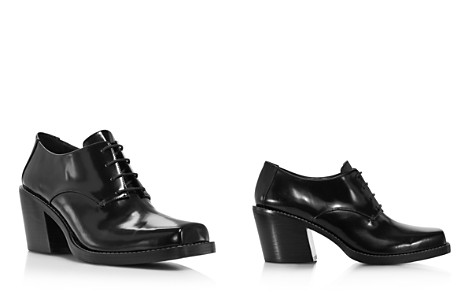 Creatures of Comfort Women's Colin Square Toe Leather Mid-Heel Oxfords - Bloomingdale's_2