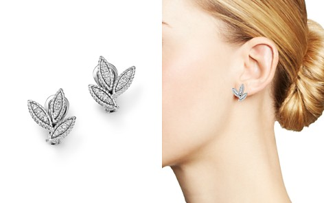 Roberto Coin 18K White Gold Diamond Petals Diamond Earrings - Bloomingdale's_2