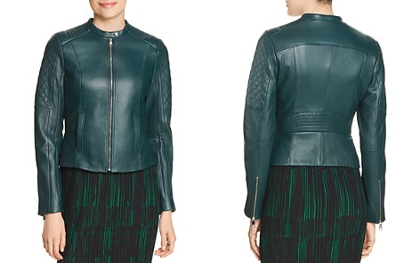 BOSS Sadeno Leather Moto Jacket - Bloomingdale's_2