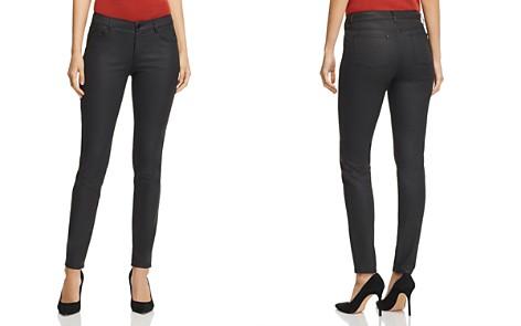 Lafayette 148 New York Mercer Coated Skinny Jeans in Black - Bloomingdale's_2