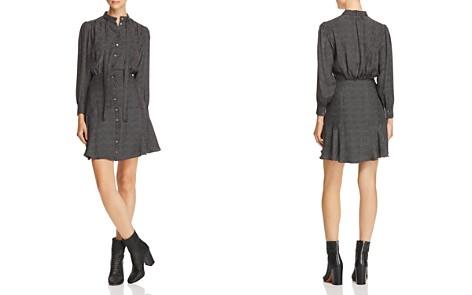Rebecca Taylor Sprinkle-Dot Silk Shirt Dress - Bloomingdale's_2