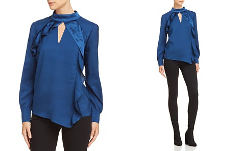 Parker Cianni Ruffled Keyhole Blouse - Bloomingdale's_2