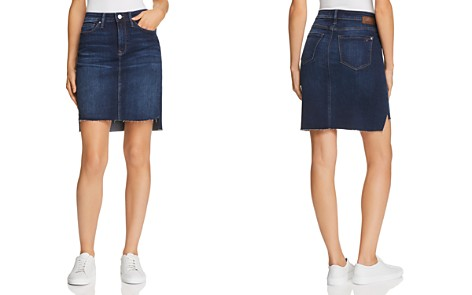 Mavi Mila Denim Skirt in Deep Frayed Tribeca - Bloomingdale's_2