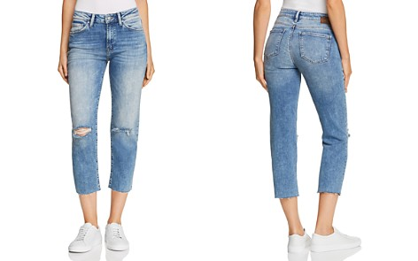 Mavi Niki Crop Tapered Jeans in Light Ripped Vintage - Bloomingdale's_2