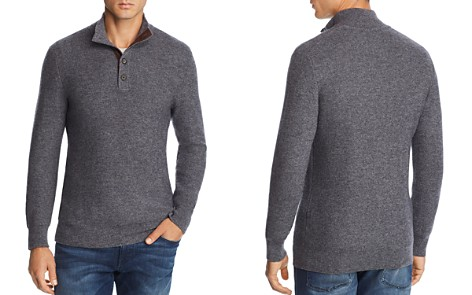 The Men's Store at Bloomingdale's Suede-Trimmed Pullover Sweater - 100% Exclusive_2