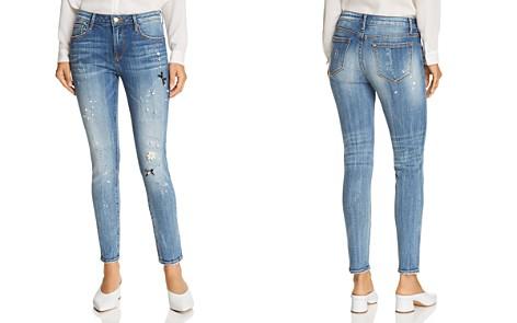AQUA Embellished Distressed Skinny Jeans in Medium Wash - 100% Exclusive - Bloomingdale's_2