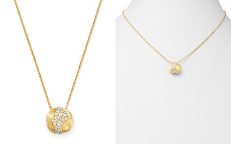 "Marco Bicego 18K Yellow Gold Africa Pavé Diamond Boule Pendant Necklace, 16.5"" - Bloomingdale's_2"