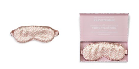 slip for beauty sleep Limited Edition Leopard Silk Eye Mask - Bloomingdale's_2