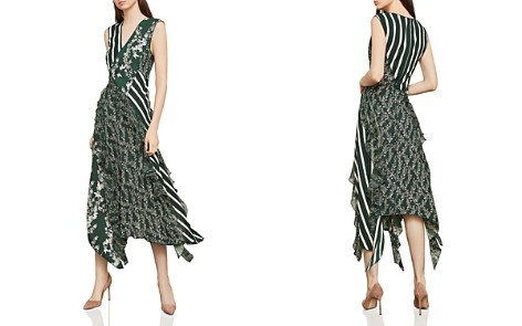 BCBGMAXAZRIA Mixed Print Ruffled Midi Dress - Bloomingdale's_2