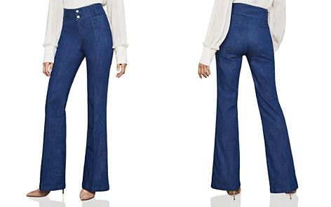 BCBGMAXAZRIA Pintuck Flared Jeans in Rinse Indigo - Bloomingdale's_2