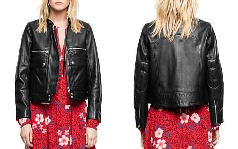 Zadig & Voltaire Love Leather Aviator Jacket - Bloomingdale's_2