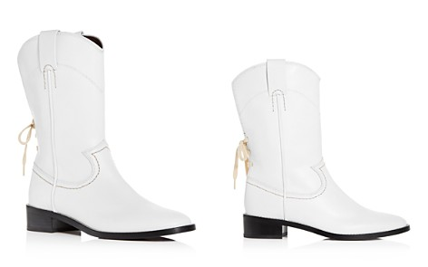 See by Chloé Women's Annika Leather Low-Heel Cowboy Boots - Bloomingdale's_2