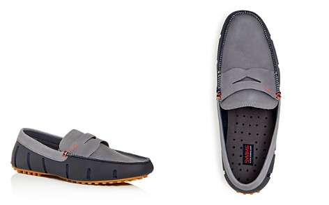 Swims Men's Lux Nubuck Leather & Rubber Penny Loafer Drivers - Bloomingdale's_2