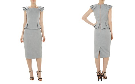 Ted Baker Daizid Pleat-Detail Peplum Dress - Bloomingdale's_2