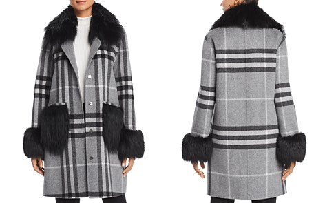 Maximilian Furs Fox Fur Trim Coat - 100% Exclusive - Bloomingdale's_2