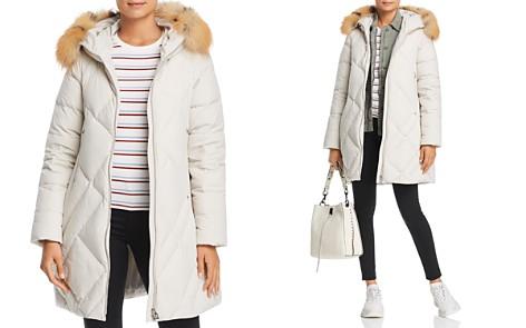 Maximilian Furs Fox Fur Trim Down Coat- 100% Exclusive - Bloomingdale's_2