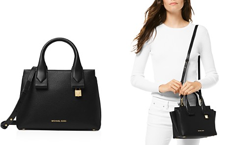 MICHAEL Michael Kors Rollins Small Leather Crossbody Satchel - Bloomingdale's_2