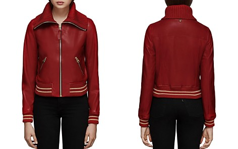 Mackage Krysta Leather Baseball Jacket - Bloomingdale's_2
