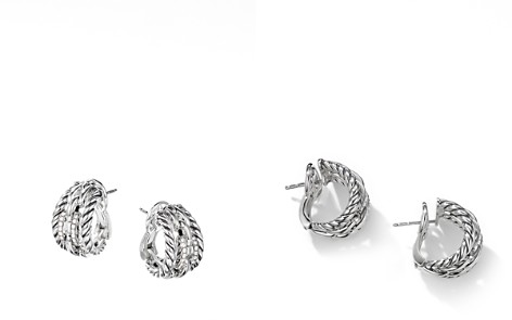 David Yurman Wellesley Link Hoop Earrings with Pavé Diamonds in Sterling Silver - Bloomingdale's_2