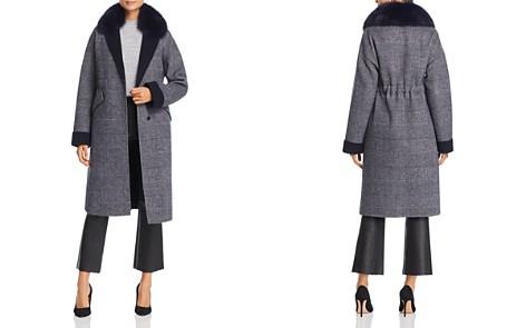 Maximilian Furs Fox Fur-Collar Plaid Wool Coat - 100% Exclusive - Bloomingdale's_2