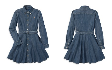 Polo Ralph Lauren Girls' Denim Shirt Dress with Belt - Big Kid - Bloomingdale's_2