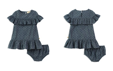 kate spade new york Girls' Ruffled Polka-Dot Chambray Dress & Bloomers Set - Baby - Bloomingdale's_2