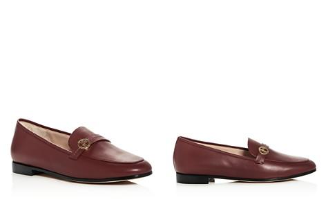 Giorgio Armani Women's Leather Apron Toe Loafers - Bloomingdale's_2
