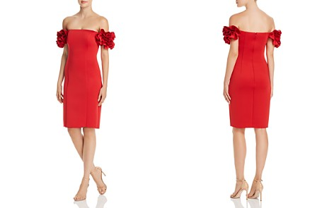 AQUA Off-the-Shoulder Ruffle Sleeve Dress - 100% Exclusive - Bloomingdale's_2