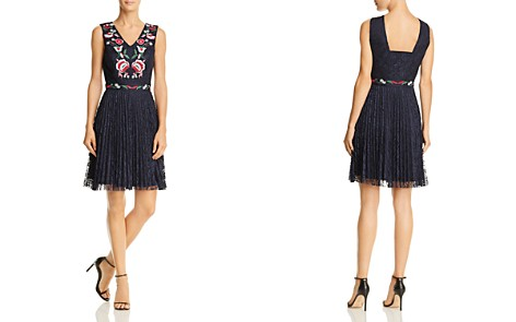 nanette Nanette Lepore Embroidered Lace Fit-and-Flare Dress - Bloomingdale's_2