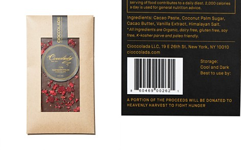 Cioccolada 72% Raspberry Fields Chocolate Bar - Bloomingdale's_2